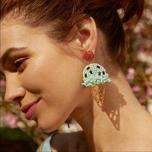 BAUBLEBAR NWOT Beaded Ice Cream Cone Earrings Mint